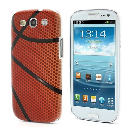 Samsung Galaxy S3 Hart Plastik Case mit Basketballmuster