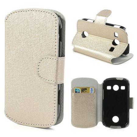 Samsung Galaxy Xcover 2 Stylisches, edles Leder Case mit Kreditkartenschlitz - champagnerfarben