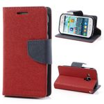 Goospery - Samsung Galaxy S Duos Hülle - Handy Bookcover - Fancy Diary Series - rot/navy
