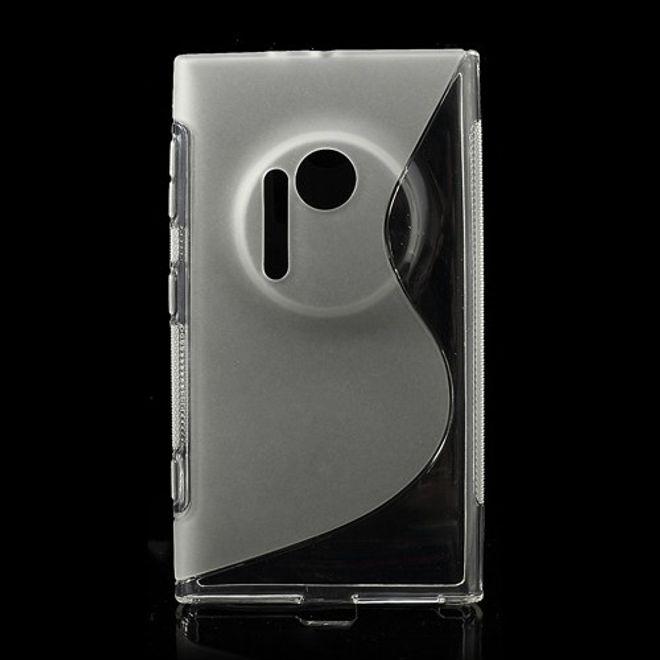 Nokia Lumia 1020 Elastisches Plastik Case S-Curve - transparent