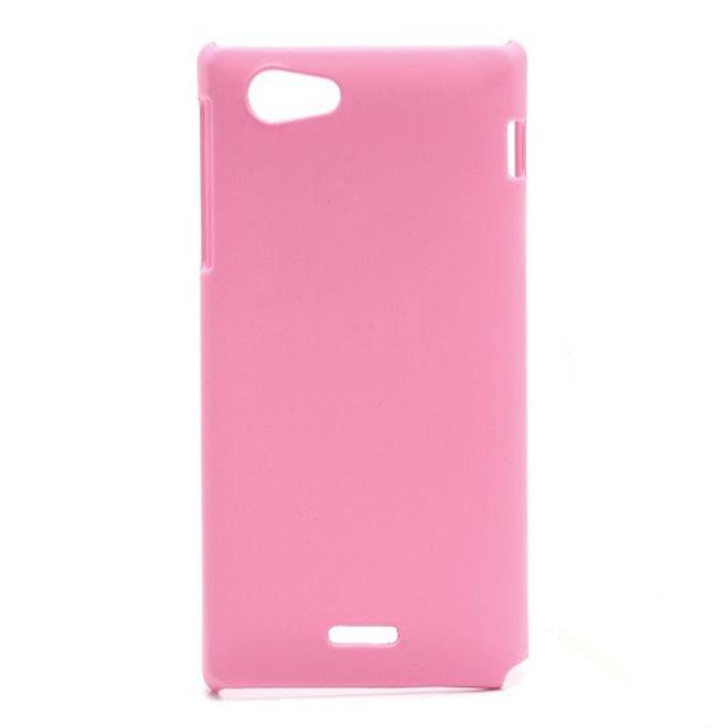 MU Classic Sony Xperia J Gummiertes Hart Plastik Case - pink