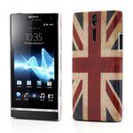 Sony Xperia S Hart Plastik Case mit Union Jack Flagge retro-style