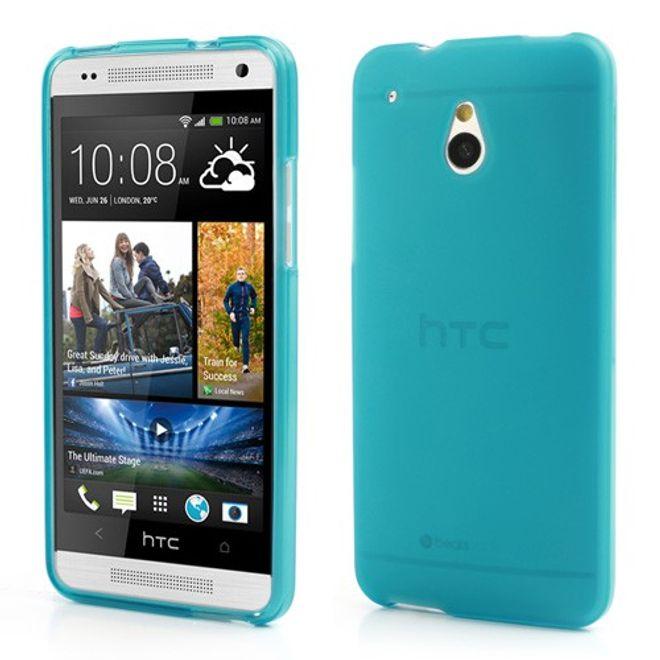 HTC One Mini Doppelseitiges Plastik Case - hellblau
