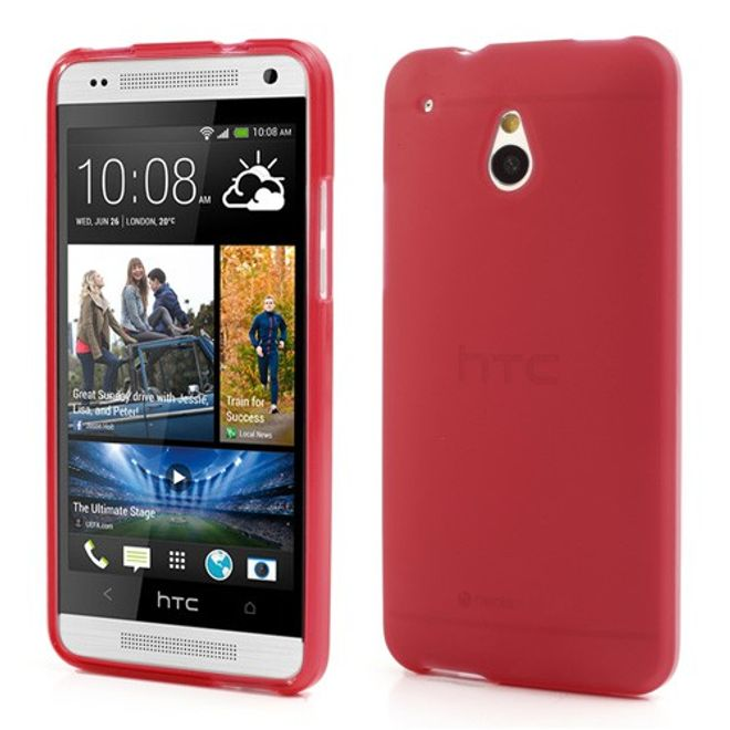 HTC One Mini Doppelseitiges Plastik Case - rot