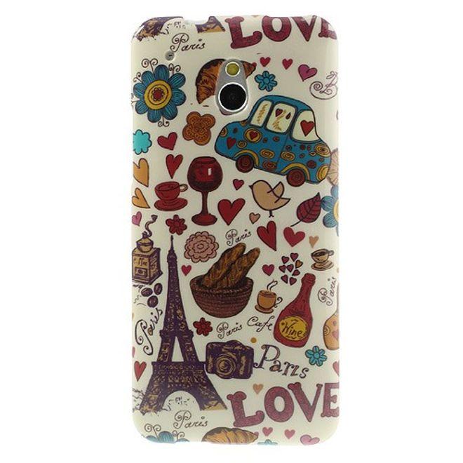 HTC One Mini Elastisches Plastik Case mit französischen Sujets