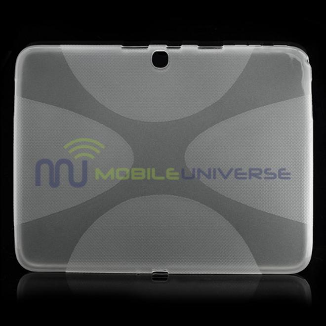 Samsung Galaxy Tab 3 10.1 Elastisches Plastik Case X-Shape - purpur