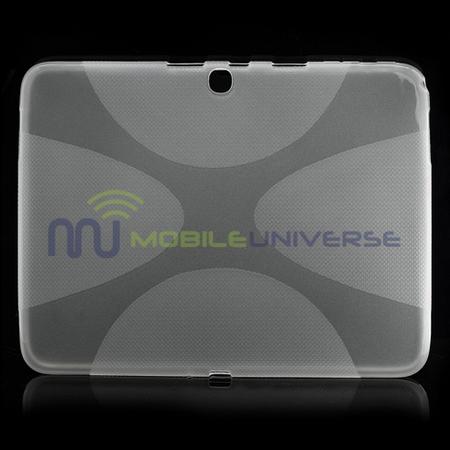 Samsung Galaxy Tab 3 10.1 Elastisches Plastik Case X-Shape - weiss
