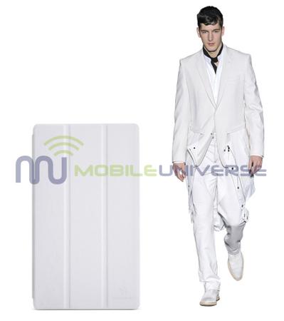 Asus Google Nexus 7 (2013 Version) Leder Case mit Sleep/Wake Funktion - weiss