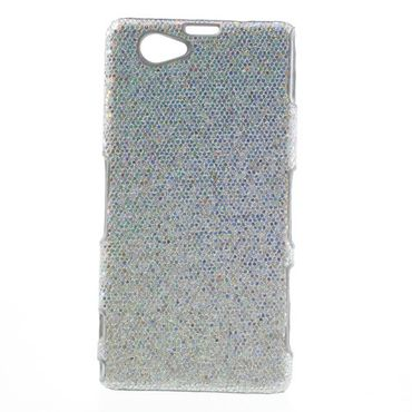 Sony Xperia Z1 Compact Glitzerndes Hart Plastik Cover - silber