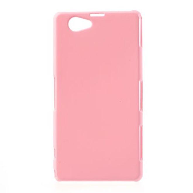 Sony Xperia Z1 Compact Gummiertes Plastik Case - pink