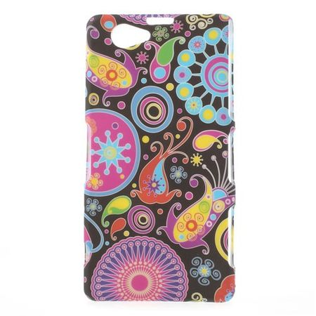 Sony Xperia Z1 Compact Hart Plastik Case mit farbigem Muster