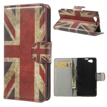 Sony Xperia Z1 Compact Leder Case mit Union Jack Flagge retro-style
