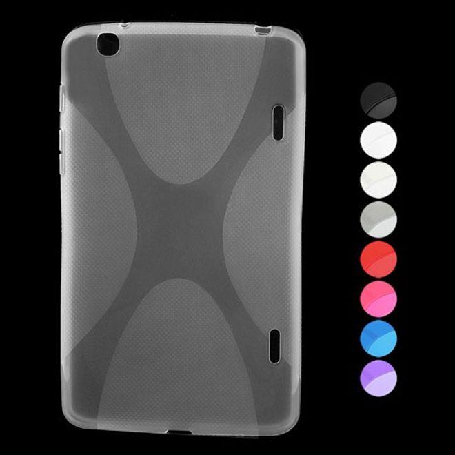 LG G Pad 8.3 Elastisches Plastik Case X-Shape - blau