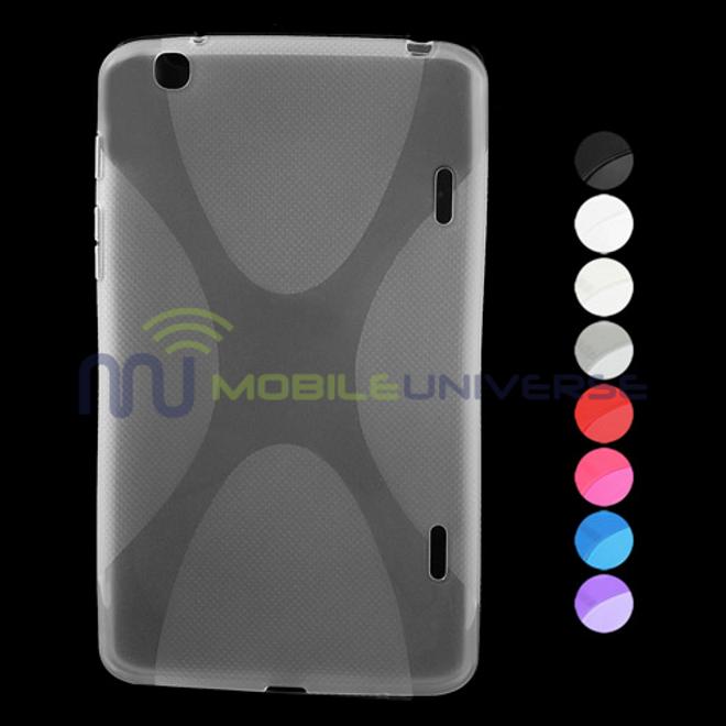 MU Classic LG G Pad 8.3 Elastisches Plastik Case X-Shape - rot
