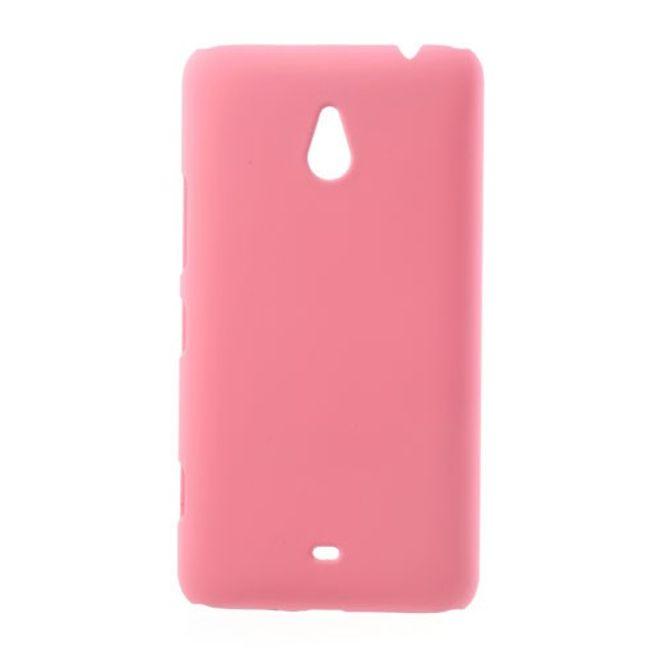 Nokia Lumia 1320 Gummiertes Hart Plastik Case - pink