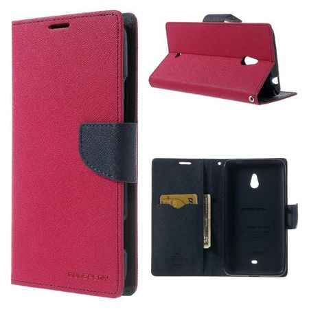 Goospery - Nokia Lumia 1320 Hülle - Handy Bookcover - Fancy Diary Series - pink/navy