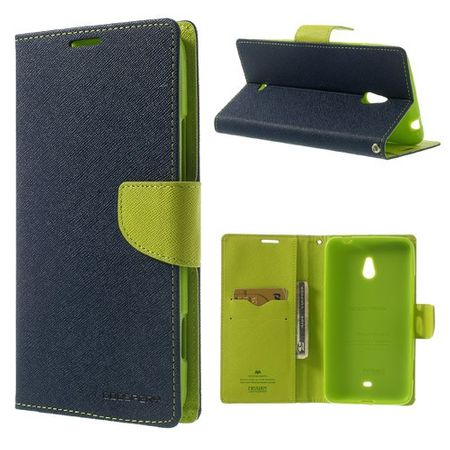 Goospery - Nokia Lumia 1320 Hülle - Handy Bookcover - Fancy Diary Series - navy/lime