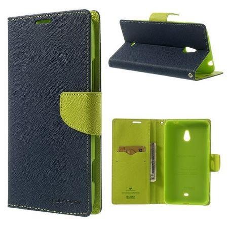 Nokia Lumia 1320 Modisches Leder Cover - grün/dunkelblau