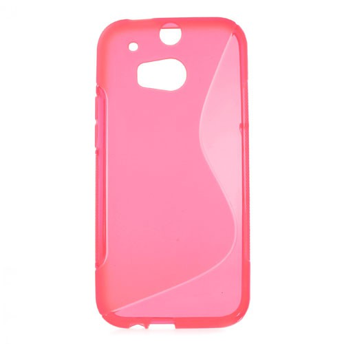 HTC One (M8) Elastisches Plastik Case S-Shape - rosa