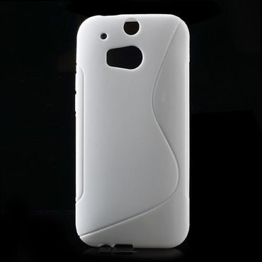 HTC One (M8) Elastisches Plastik Case S-Shape - weiss