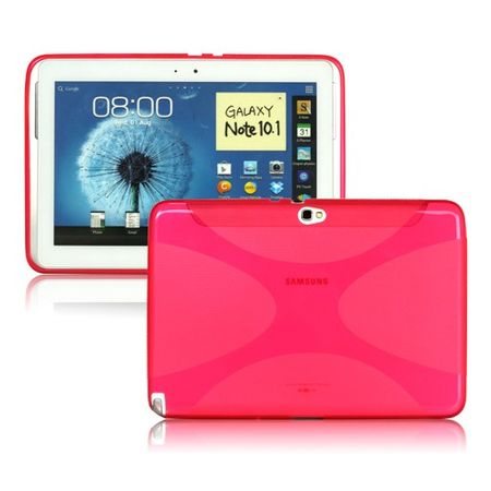 Samsung Galaxy Note 10.1 Elastisches Plastik Case X-Shape - rosa