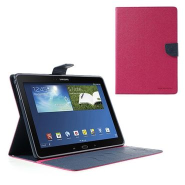 Samsung Galaxy Note 10.1 Modisches Leder Case mit Standfunktion - dunkelblau/rosa