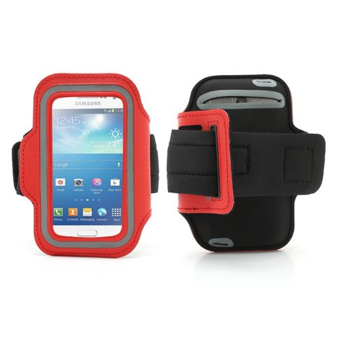 Sport Armband Case fürs Samsung Galaxy S4 Mini - rot