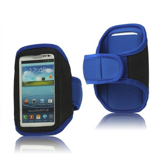 Sport Armband Case fürs Samsung Galaxy S3 - blau