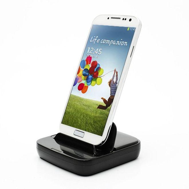 Multifunktionale Docking Station für das Samsung Galaxy S4/S3/S2 - schwarz