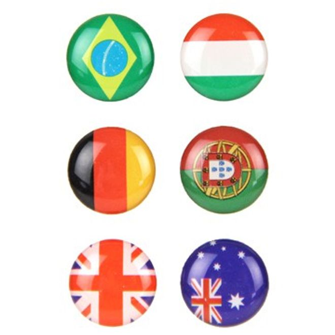 MU Classic Home Button Sticker diverse Nationalflaggen für iPhone/iPod/iPad