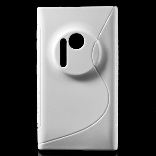 Nokia Lumia 1020 Elastisches Plastik Case S-Curve - weiss