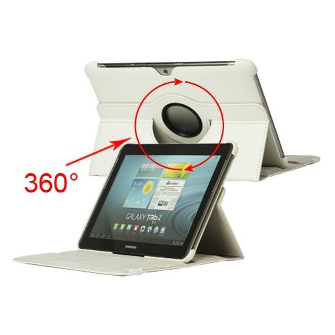 Samsung Galaxy Tab 2 10.1 Leder Case 360° rotierbar mit Standfunktion - weiss