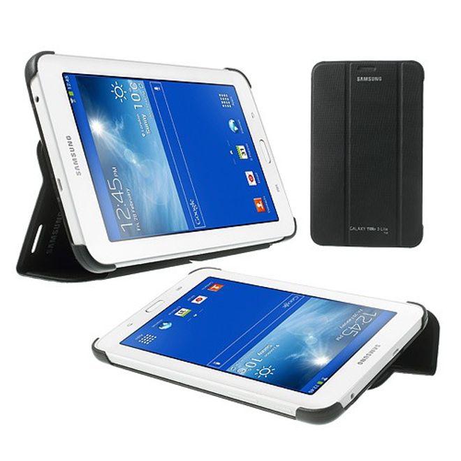 Samsung Galaxy Tab 3 7.0 Lite Faltbares Leder Cover - schwarz