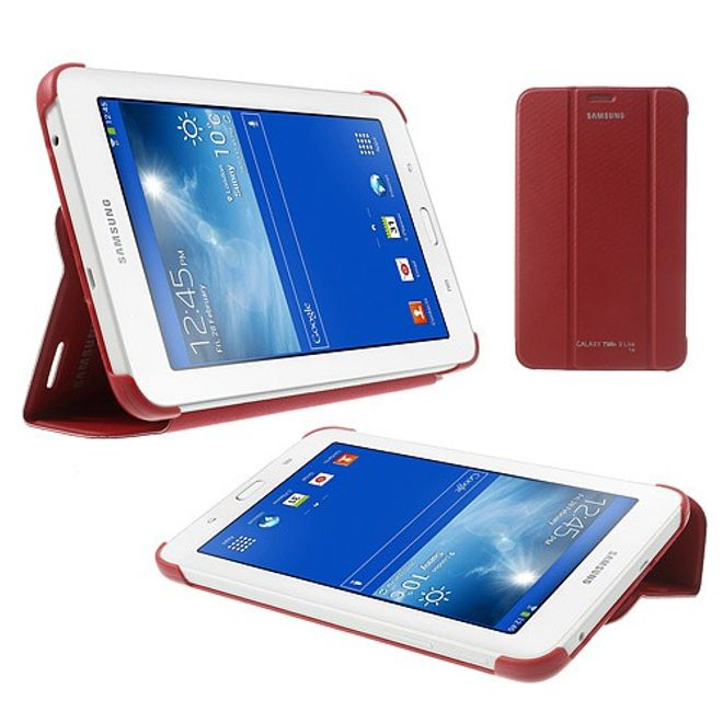 Samsung Galaxy Tab 3 7.0 Lite Faltbares Leder Cover - rot
