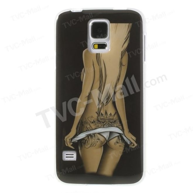 Samsung Galaxy S5 Elastisches Plastik Case mit Girl mit Tattoos