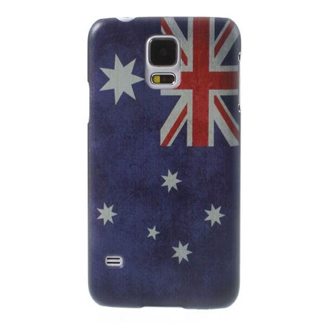 MU Style Samsung Galaxy S5 Hart Plastik Case mit Australien Nationalflagge