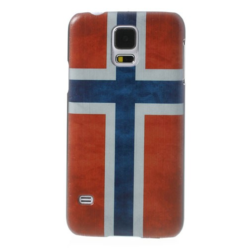 Samsung Galaxy S5 Hart Plastik Case mit Norwegen Nationalflagge