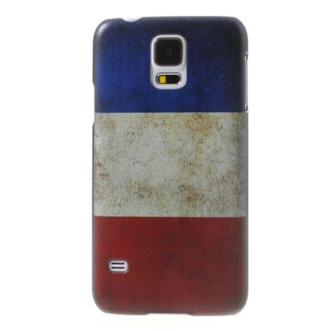 Samsung Galaxy S5 Hart Plastik Case mit Frankreich Nationalflagge