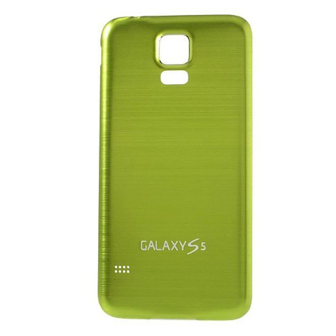 Samsung Galaxy S5 Backcover im Metall-look  - weiss/grün
