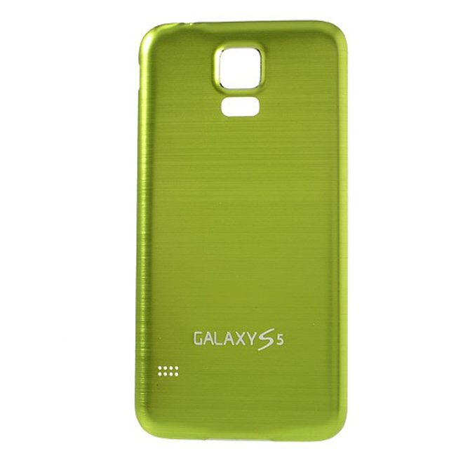 MU Classic Samsung Galaxy S5 Backcover im Metall-look  - weiss/grün
