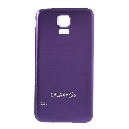Samsung Galaxy S5 Backcover im Metall-look  - weiss/purpur