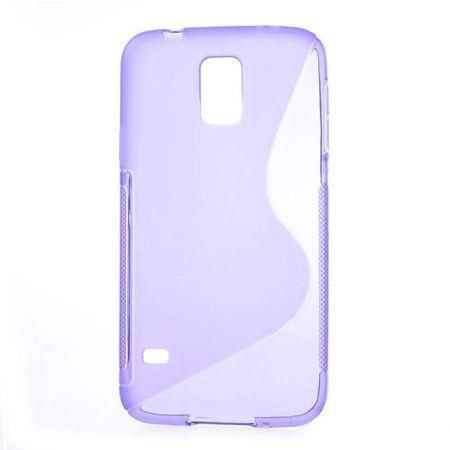 Samsung Galaxy S5 Elastisches Plastik Case S-Shape - purpur