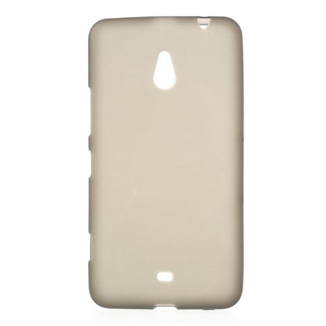 MU Classic Nokia Lumia 1320 Elastisches, mattes Plastik Case - grau