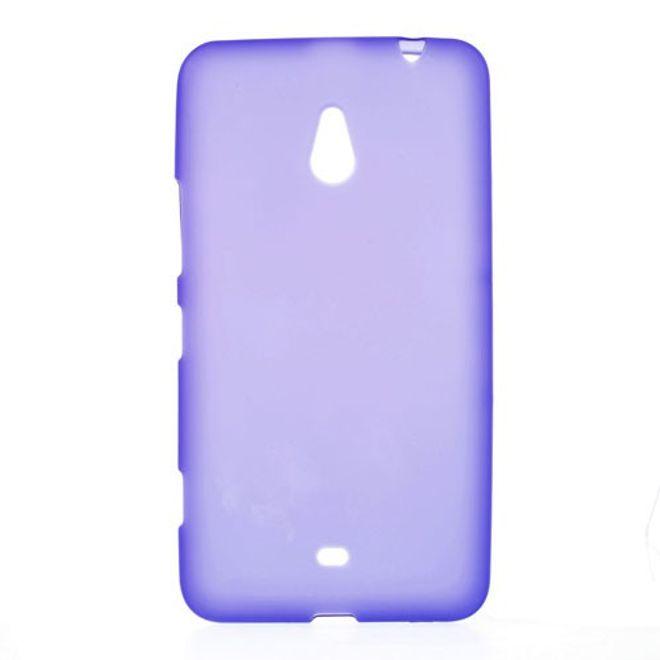 MU Classic Nokia Lumia 1320 Elastisches, mattes Plastik Case - purpur