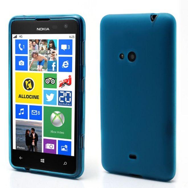 Nokia Lumia 625 Elastisches, mattes Plastik Case - hellblau