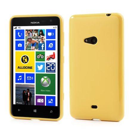 Nokia Lumia 625 Elastisches, schlichtes Plastik Case - gelb