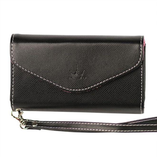 MU Classic iPhone 4/4S Brieftasche mit Handschlaufe - schwarz
