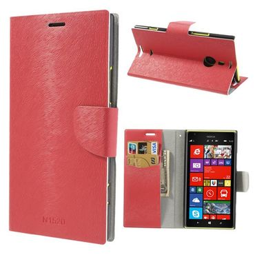 Nokia Lumia 1520 Fellartiges Leder Case mit Standfunktion - rot