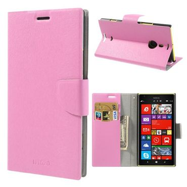 Nokia Lumia 1520 Fellartiges Leder Case mit Standfunktion - pink