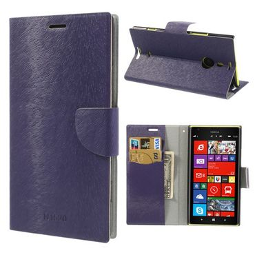 Nokia Lumia 1520 Fellartiges Leder Case mit Standfunktion - purpur